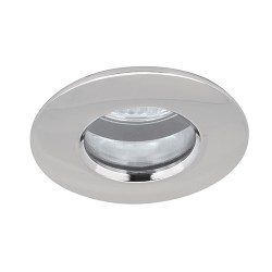 Aurora Lighting IP65 50W Fixed GU10 Polished Chrome Aluminium Downlight
