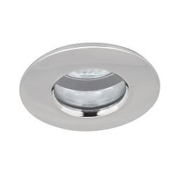 Aurora Lighting IP65 50W Fixed GU10 Polished Chrome Aluminium Downlight