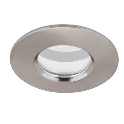 Aurora Lighting IP65 50W Fixed GU10/MR16 Satin Nickel Aluminium Downlight