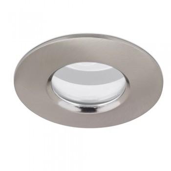 Aurora Lighting IP65 50W Fixed GU10/MR16 Satin Nickel Aluminium Downlight
