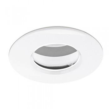 Aurora Lighting IP65 50W Fixed GU10 White Aluminium Downlight
