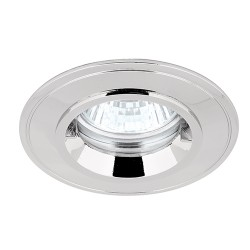 Aurora Lighting IP44 50W Fixed GU10 Polished Chrome Aluminium Lock Ring Downlight