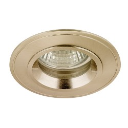 Aurora Lighting IP44 50W Fixed GU10/MR16 Satin Nickel Aluminium Lock Ring Downlight