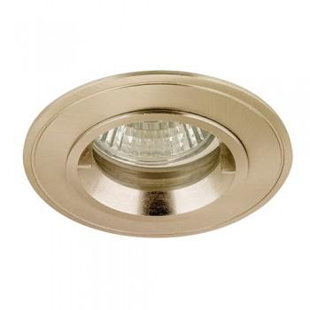 Aurora Lighting IP44 50W Fixed GU10/MR16 Satin Nickel Aluminium Lock Ring Downlight