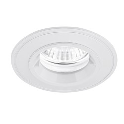 Aurora Lighting IP44 50W Fixed GU10 White Aluminium Lock Ring Downlight