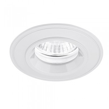 Aurora Lighting IP44 50W Fixed GU10 White Aluminium Lock Ring Downlight
