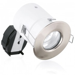 Aurora Lighting Compact IP65 50W Fixed GU10 Satin Nickel Aluminium Downlight