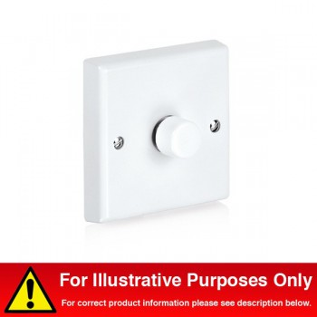 Aurora Lighting 40-250VA 1 Gang 2 Way Rotary Dimmer