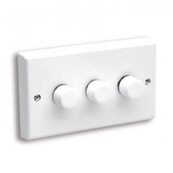 Aurora Lighting 40-250VA 3 Gang 2 Way Rotary Dimmer