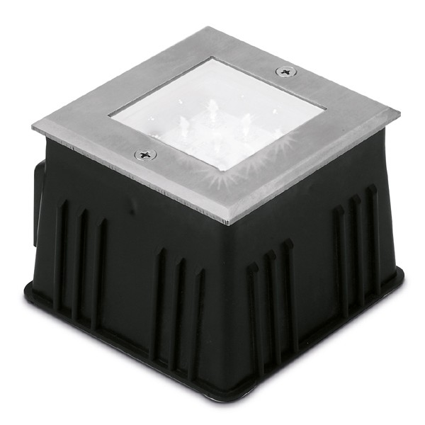 Aurora Lighting 240v Stainless Steel Ip67 Fixed Square Led