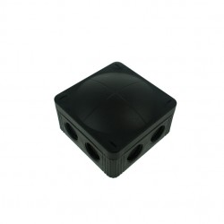 Wiska 85x85x51mm Black IP65 External Junction Box