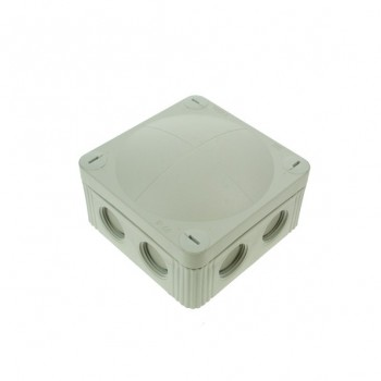 Wiska 85x85x51mm Grey IP65 External Junction Box