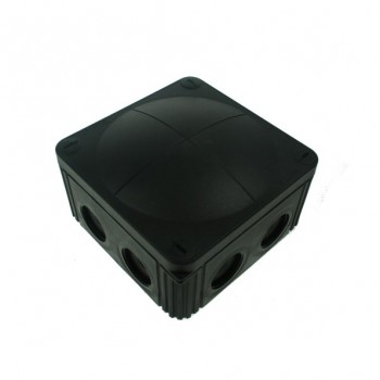 Wiska Black 110x110x66mm IP65 External Junction Box