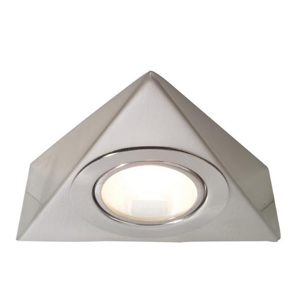 Kitchen Lighting Pelmet: Aurora Lighting 12V G4 Stainless Steel Fixed Triangular
