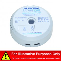 Aurora Lighting 50-210W/VA Round Electronic Transformer