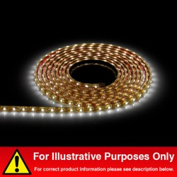 Aurora Lighting 12V DC LED IP68 Single Colour Flexible LED Strip Light Warm White