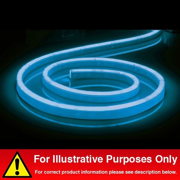 Aurora Lighting 240V LED IP65 Single Colour Flexible Round Top LED Flex  White