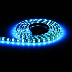 Aurora Lighting 24V DC Single Colour Flexible High Density LED Strip Light Blue