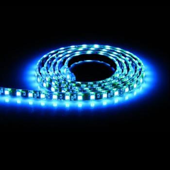 Aurora Lighting 24V DC Single Colour Flexible High Density LED Strip Light Blue
