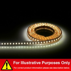 Aurora Lighting 24V DC IP68 Single Colour Flexible High Density LED Strip Light White