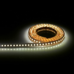 Aurora Lighting 24V DC IP68 Single Colour Flexible High Density LED Strip Light Warm White