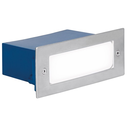 Aurora External Wall Lights : Aurora Lighting 240V Stainless Steel IP54 Rectangular LED Recessed Wall Light White at UK ...