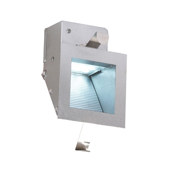 Aurora External Wall Lights : Aurora Lighting 240V LED Pressed Steel LED Wall Light Satin Silver at UK Electrical Supplies.