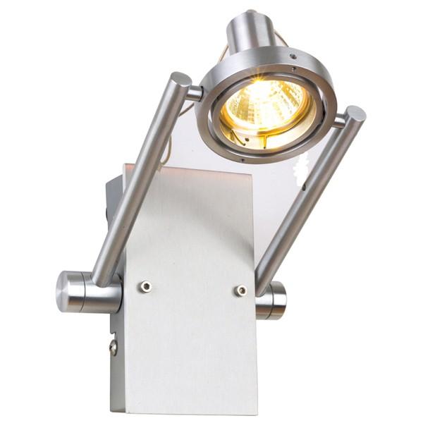 Aurora Lighting 12V MR16 Aluminium Adjustable Halogen Wall Light Brushed Aluminium at UK ...