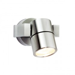 Aurora Lighting 240V GU10 Anodised Aluminium IP54 Adjustable Wall Light Aluminium