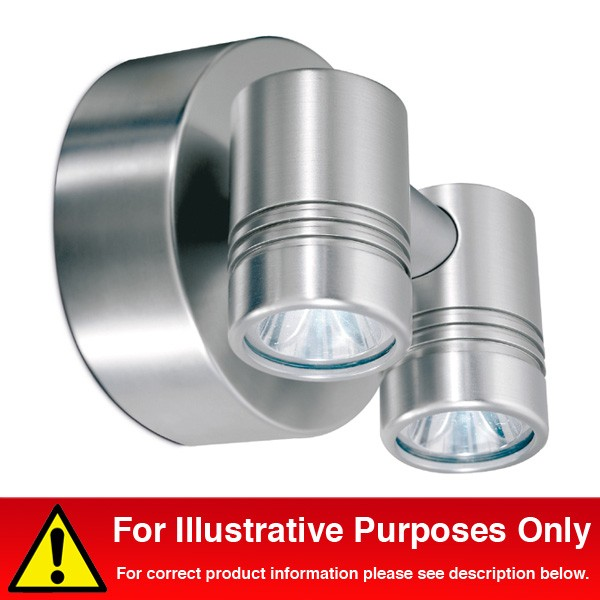 Aurora Lighting 240V LED Aluminium IP65 Adjustable Twin LED Wall Light White