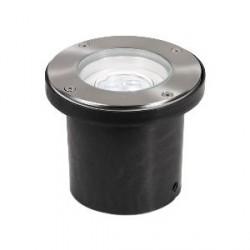 Aurora Lighting 240V Stainless Steel IP67 Adjustable 3 x 1W LED Walkover Light White