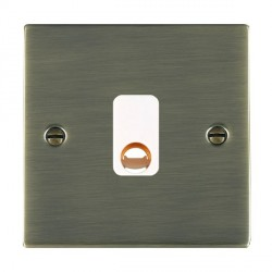 Hamilton Sheer Antique Brass 20A Cable Outlet with White Insert