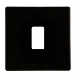 Hamilton Hartland CFX Black 1 Gang Concealed Fix Grid Fix Aperture Plate with Grid
