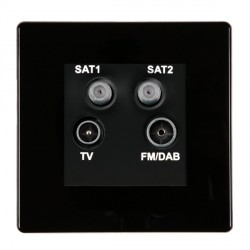 Hamilton Hartland CFX Black Digital Screened Non Isolated TV+FM+SAT+SAT (DAB Compatible) with Black Insert