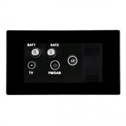 Hamilton Hartland CFX Black Digital Screened Non Isolated TV+FM+SAT+SAT (DAB Compatible)+TV+TCS (DAB Compatible) with Black Insert