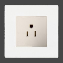 Hamilton Hartland CFX White 1g 15A 127V American Unswitched Socket with White Insert