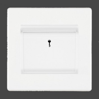 Hamilton Hartland CFX White 1 gang On/Off 10A (6AX) Card Switch with Blue LED Locator with White Insert