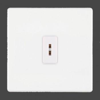 Hamilton Hartland CFX White 1 gang 2 Way 20AX Key Switch with White Insert