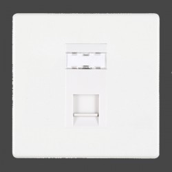 Hamilton Hartland CFX White 1 gang RJ45 Outlet Cat 5e Unshielded with White Insert