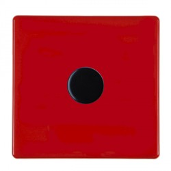 Hamilton Hartland CFX Red Push On/Off Dimmer 1 gang 2 way 400W max 40W min with Black Insert