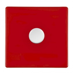 Hamilton Hartland CFX Red Push On/Off Dimmer 1 gang Multi-way 250W/VA Trailing Edge with White Insert