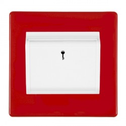 Hamilton Hartland CFX Red 1 gang On/Off 10A (6AX) Card Switch with Blue LED Locator with White Insert