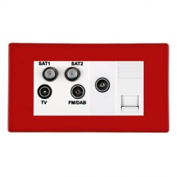 Hamilton Hartland CFX Red Digital Screened Non Isolated TV+FM+SAT+SAT (DAB Compatible)+TV+TCS (DAB Compat...