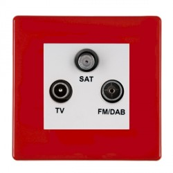 Hamilton Hartland CFX Red Digital Screened Non Isolated TV+FM+SAT (DAB Compatible) with White Insert