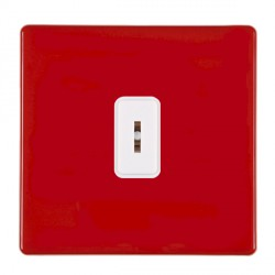 Hamilton Hartland CFX Red 1 gang 2 Way 20AX Key Switch with White Insert