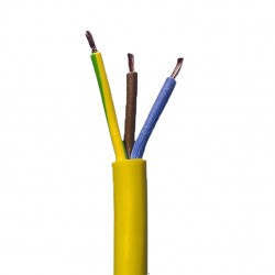 100 Meter Drum of 1.50mm 3 Core Yellow Arctic Cable