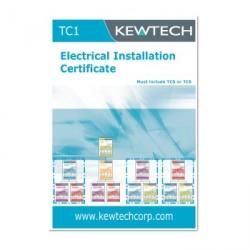 Kewtech TC1 Electrical Installation Certificate