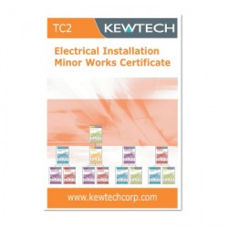 Kewtech TC2 Electrical Installation Minor Works Certificate