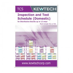 Kewtech TC5 Inspection and Test Schedule (Domestic) for Distribution Boards up to 12 ways