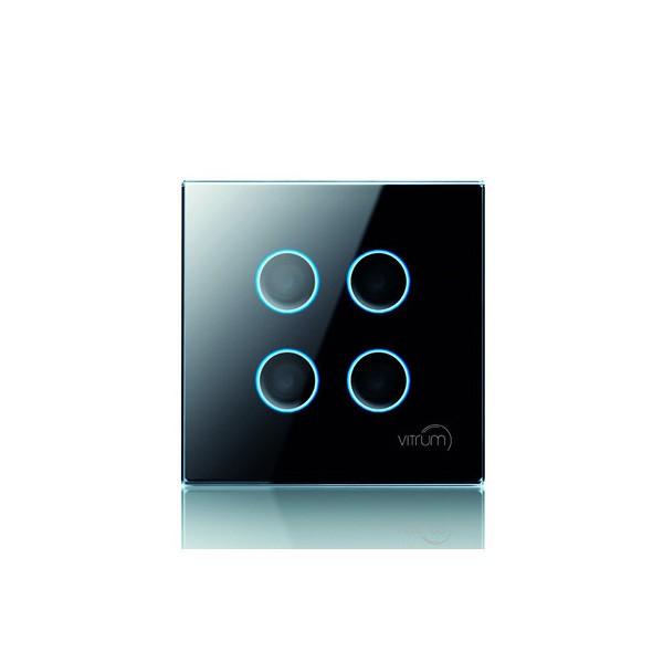 Vitrum IV BS Lighting Switch Black Fascia at UK Electrical Supplies.